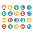 Toys and children icons set vector image