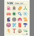 Auto and energy web icons set vector image vector image
