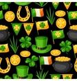 Saint Patricks Day seamless pattern Flag Ireland vector image