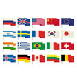 flags icons in flat style simple flags of the vector image
