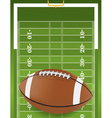 American Football and Field vector image vector image