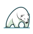 Stylized of a sleepy white polar bear vector image vector image