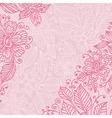 frame flower ink vector image vector image