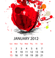 calendar for 2012 with vegetables vector image