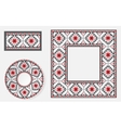 Set of Ethnic ornament pattern brushes vector image