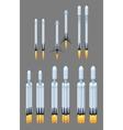 Flying modern space rocket vector image