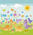 dinosaur park vector image vector image