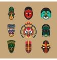 Ethnic mask icons vector image