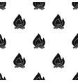 campfire icon in black style isolated on white vector image