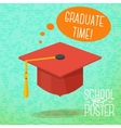 Cute school college university poster - graduation vector image
