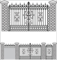 Iron gate doors and fences vector image