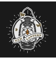 Old kerosene lamp Vintage emblem vector image