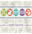 paper background with colour easter eggs vector image