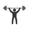 power lifting icon man with barbell sign vector image