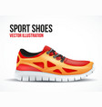 Running red shoes Bright Sport sneakers symbol vector image