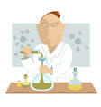 scientist at the laboratory vector image