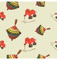 Seamless pattern baby toys vector image