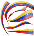 venezuela flag set vector image