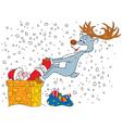 Santa Claus and Reindeer vector image