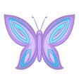 Lovely butterfly icon cartoon style vector image