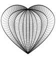Decorative Love Heart Coloring book for adult and vector image