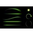 bright neon lines set vector image