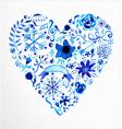 Watercolor heart love shape vector image