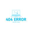 404 com error line vector image