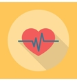 Heartbeat Icon Flat vector image