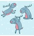 Print deer happy vector image