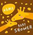 Baby shower invitation card cover template vector image