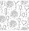 Balloons seamless pattern vector image
