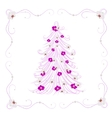 Christmas tree decorated with flowers vector image