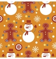 Cute colorful seamless pattern with frosties and vector image