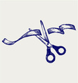 Cutting ribbon vector image