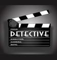 detective movie vector image