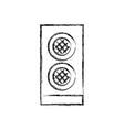 figure speaker electronic equipment to listen to vector image