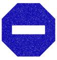 forbidden octagon icon grunge watermark vector image