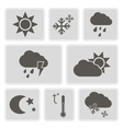 monochrome weather icons vector image
