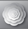 Paper cut flower grey abstract plant vector image