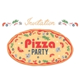Pizza Party Invitation Poster Flyer Card vector image