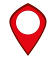red gps label vector image