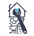 repair of plumbing and water pipes in the house vector image