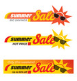 summer sale label price tag banner badge template vector image