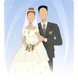 Template of wedding couple vector image