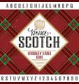 vintage scotch poster vector image