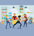 young musicians composition vector image