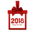 happy new year 2018 square banner in form of gift vector image