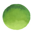 bright dark green watercolor banner blot vector image