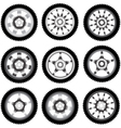 automotive wheel with alloy wheels vector image vector image